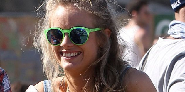 GLASTONBURY, ENGLAND - JUNE 29: Cressida Bonas, Prince Harry's girlfriend, attends day 3 of the 2013...