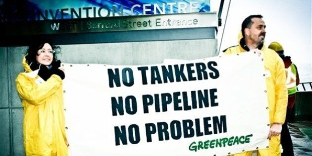 Kinder Morgan Greenpeace Protest Blockades