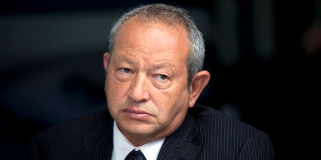 Egyptian billionaire Naguib Sawiris pauses during a Bloomberg Television interview in London, U.K., on...
