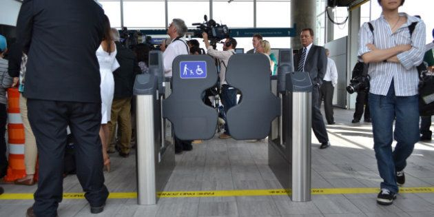 Translink Fare Gate Installation Begins At Marine Drive