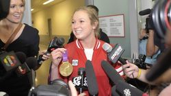 Canada's Gold Medalist Arrives Home A