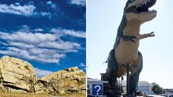 #OddAlberta: What, A Giant Dinosaur Doesn't Seem Weird To