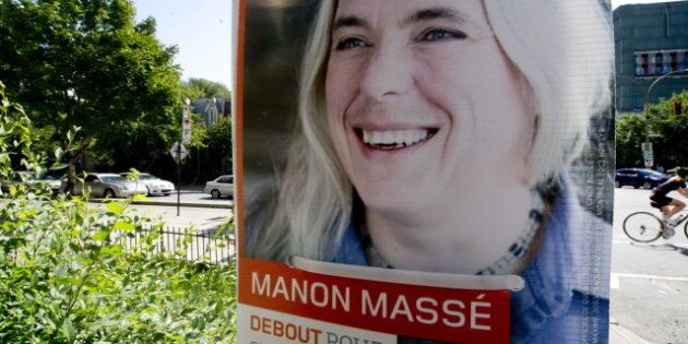 Manon Masse, Quebec Solidaire Candidate, Rocks Moustache In Election Campaign