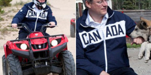 Harper Rides ATV, Plays With Huskies On Arctic Tour