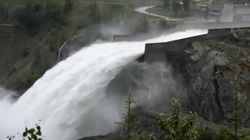 WATCH: Open The Gates! B.C. Dam Opens