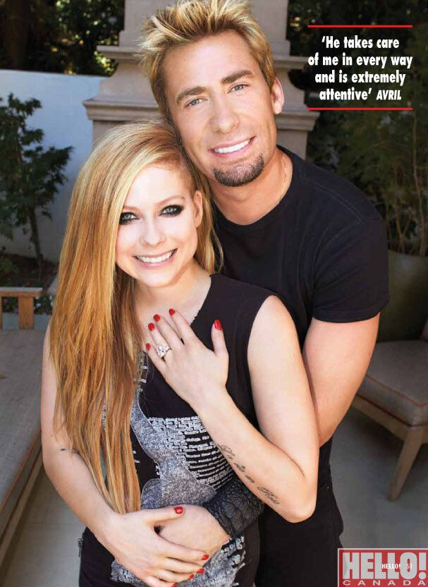 Avril Lavigne Engagement Photos: Singer Shows Off Huge Ring In Hello! Canada Magazine
