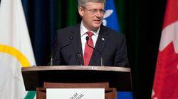 Harper's Speech Interrupted By