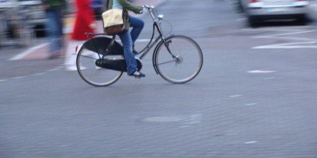 Description 1 Cyclist in Cologne  | Source Original photograph | Author ProfDEH  | Date 2008-02 | Permission | other_versions-  ...