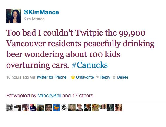 How to Survive Vancouver Stanley Cup Riots: Drinking Beer with Calm
