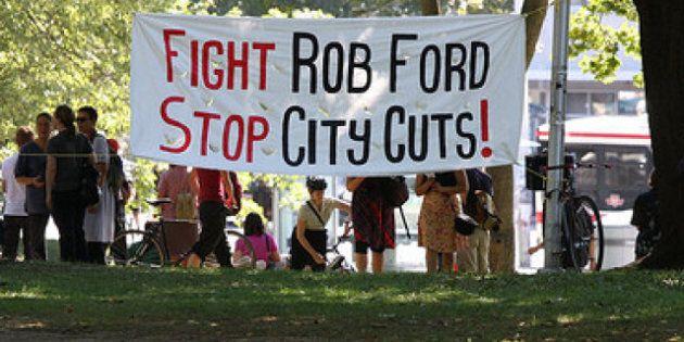 Rob Ford To Hear Presentation On Toronto Budget Cuts, 300 Sign