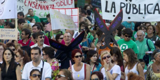 Spain Austerity Push Prompts Teachers To