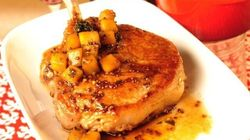 Lynn Crawford's Cider Glazed Pork Chops With Apple Thyme Chutney
