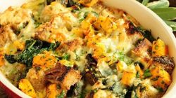 Lynn Crawford's Roasted Fall Squash And Cheddar Bread Pudding