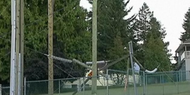 Surrey BC Hydro Tower Collapse Leads To Major Power Outage, Highway