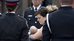 Funeral For Slain Officer Brings In