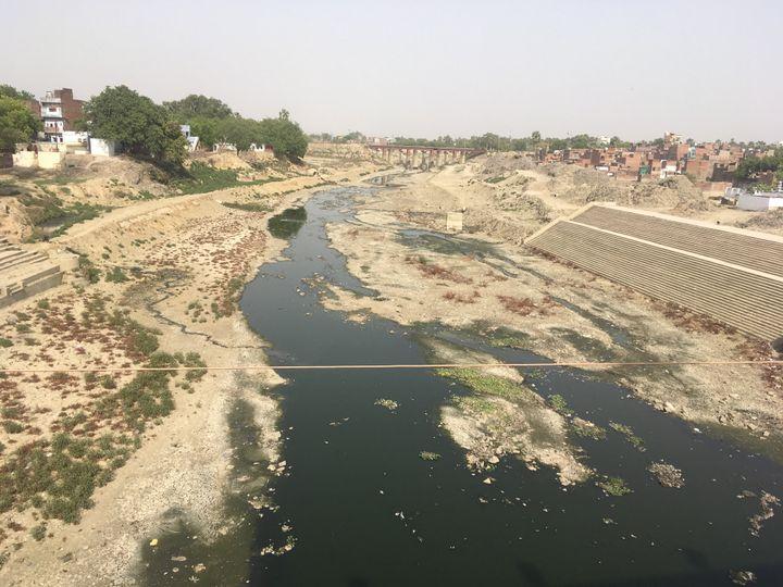 Varuna River in Varanasi on May 10, 2019.