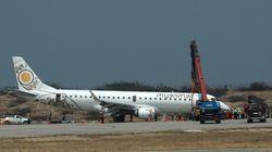 前輪が出ない…。ミャンマーで緊急トラブルに見舞われた飛行機を、パイロットが無事に着陸させる(動画)
