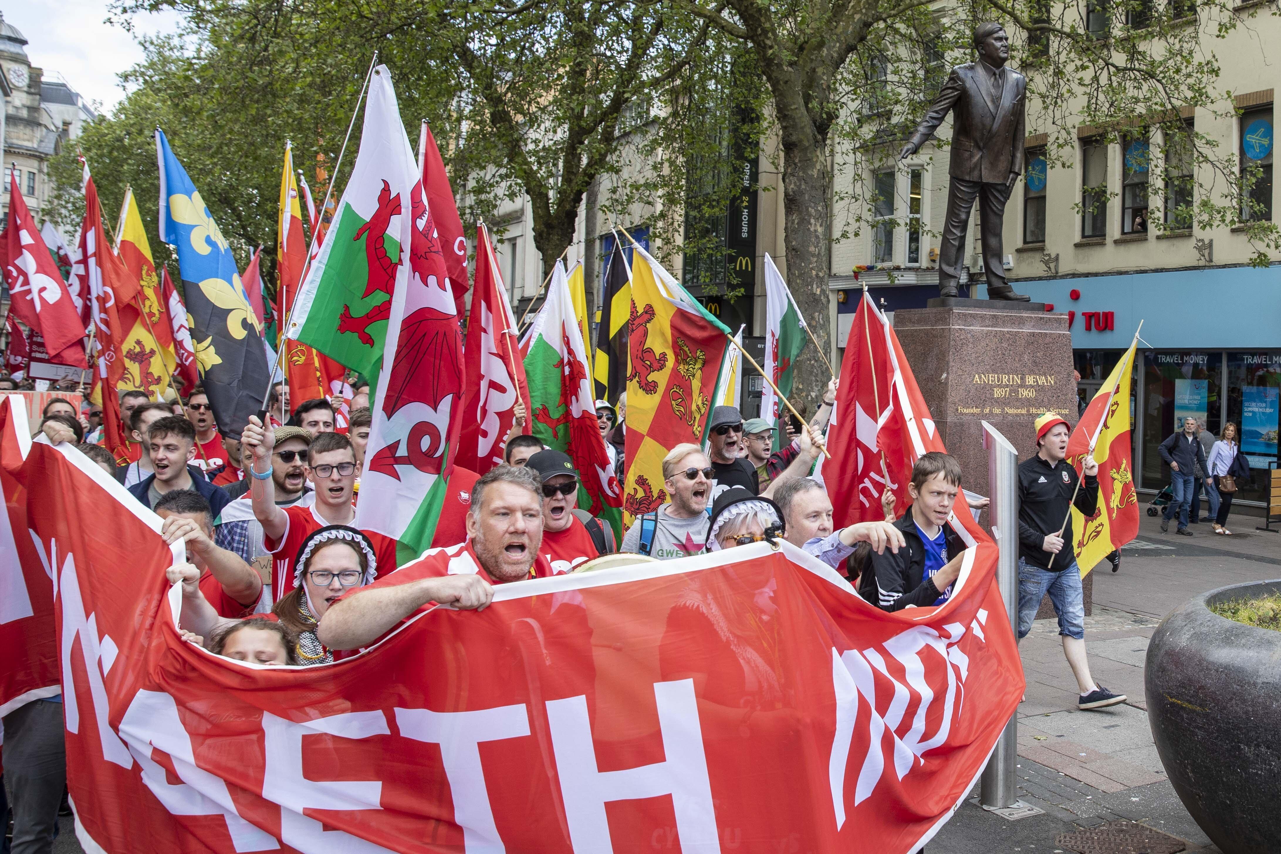 웨일스에서 '사상 처음'으로 분리독립 찬성 집회가