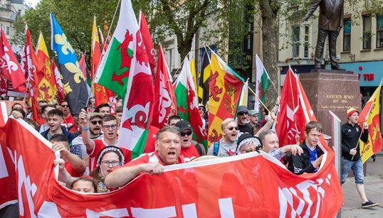 웨일스에서 사상 처음으로 분리독립 찬성 집회가