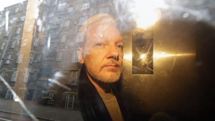 Julian Assange was detained by British police this month after seven years in the Ecuadorian embassy in London.