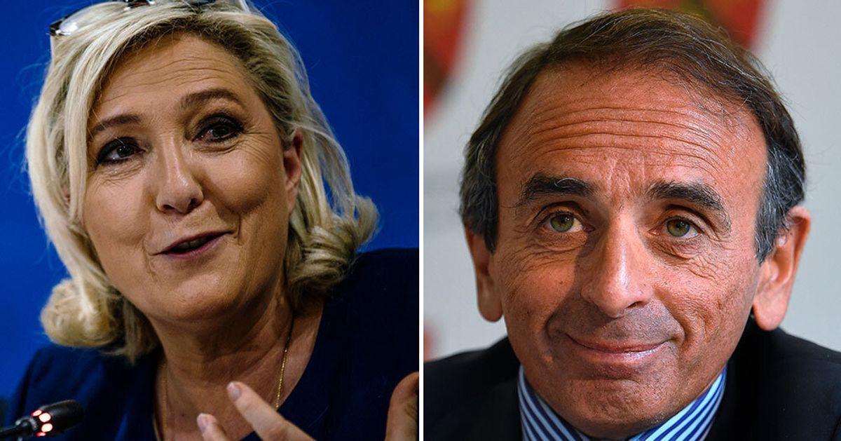 Europeennes Le Pen A Propose Une Place A Zemmour Sur La Liste Rn Mais Pas La Tete Le Huffpost