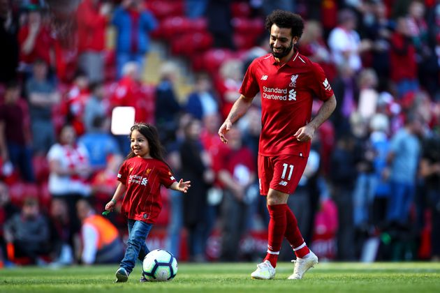 Mo Salah's Daughter Gets 'Biggest Cheer Of The Day' As She Scores Goal At Liverpool