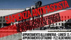Antifascisti con Lucano alla Sapienza. Sit-in a favore del Sindaco di Riace e contro Forza