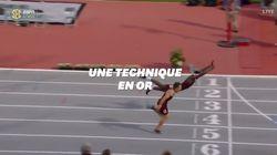 Cet athlète remporte un 400 mètres haies grâce à une technique peu