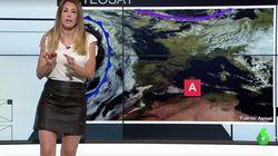 La 'mujer del tiempo' de La Sexta sorprende con un vídeo en el que sale casi