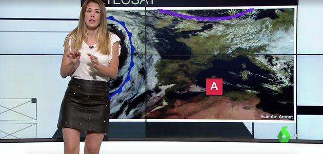 Isabel Zubiaurre, 'mujer del tiempo' de La Sexta, sorprende con un vídeo en el que sale casi