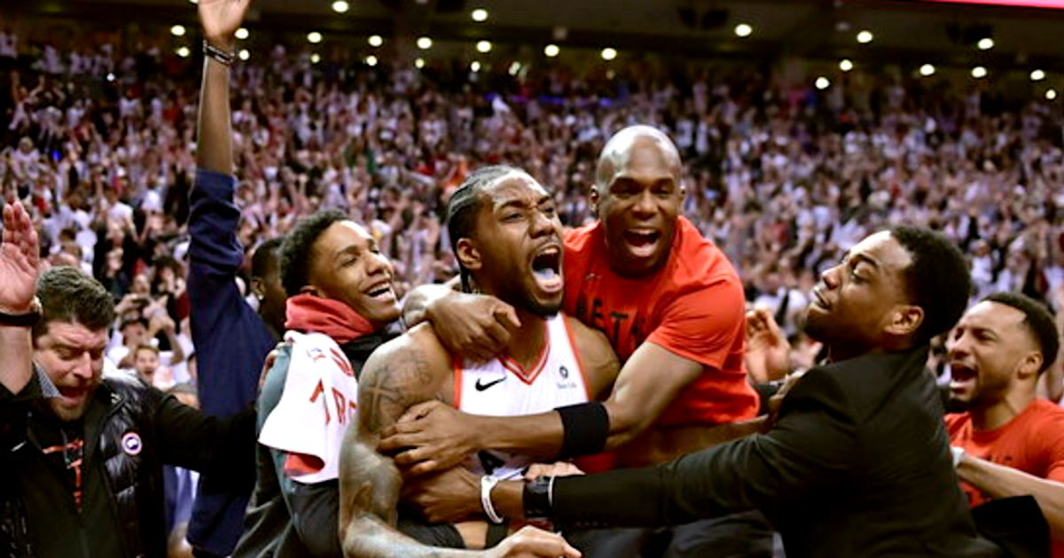 4fe724cc5 Raptor Kawhi Leonard s Bouncing Buzzer-Beater Is More Epic With  Avengers   Music