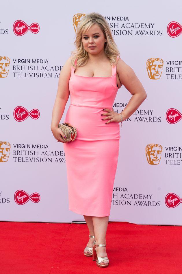 Derry Girls star Nicola Coughlan at Sunday night's TV