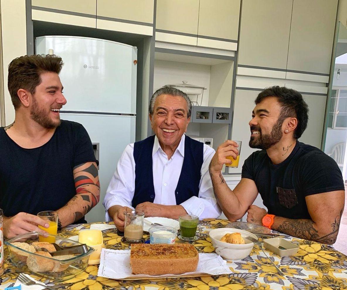 Mauricio de Sousa celebra o amor em foto com filho e