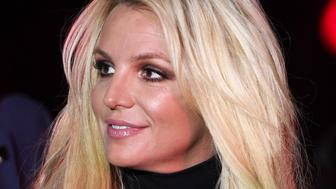 """LAS VEGAS, NEVADA - OCTOBER 18:  (EDITORS NOTE: Image was processed using digital filters) Singer Britney Spears attends the announcement of her new residency, """"Britney: Domination"""" at Park MGM on October 18, 2018 in Las Vegas, Nevada. Spears will perform 32 shows at Park Theater at Park MGM starting in February 2019.  (Photo by Ethan Miller/Getty Images)"""