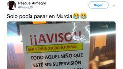 Un bar de Murcia conquista a cientos de personas en Twitter con este