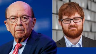 Wilbur L. Ross and Chuck Johnson. (Photos: Mike Blake/Reuters, Twitter)