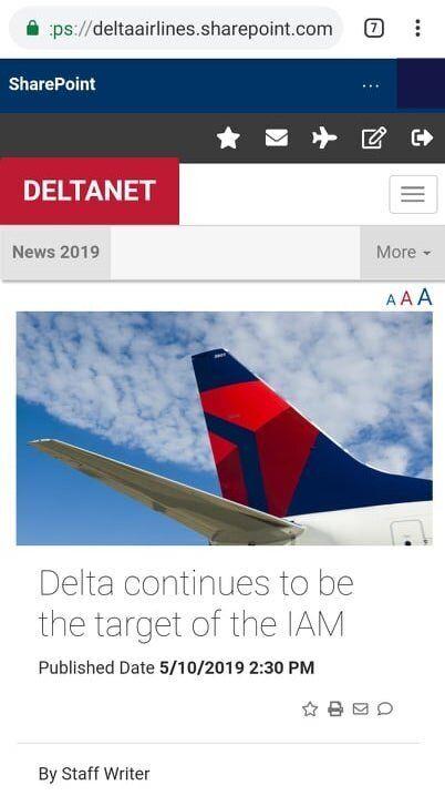 Delta's Anti-Union Pitch Draws