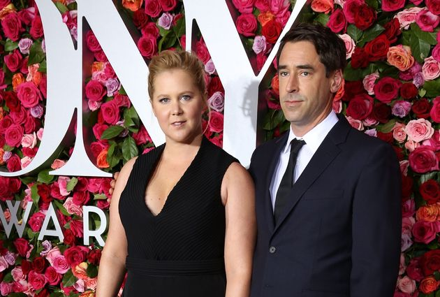 Amy Schumer and Chris Fischer attend the 72nd Annual Tony Awards on June 10, 2018, at Radio City Music...