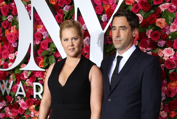 Amy Schumer and Chris Fischer attend the 72nd Annual Tony Awards on June 10, 2018, at Radio City Music Hall in New York City.
