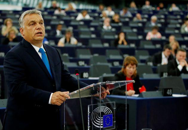 Viktor Orban, en una comparecencia en el Parlamento