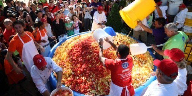 World's Biggest Fruit Salad -- For