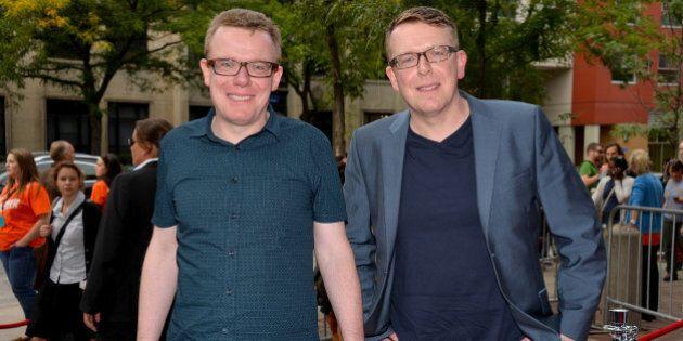 TORONTO, ON - SEPTEMBER 09: The Proclaimers: Craig Reid and Charlie Reid arrive at 'Sunshine On Leith'...