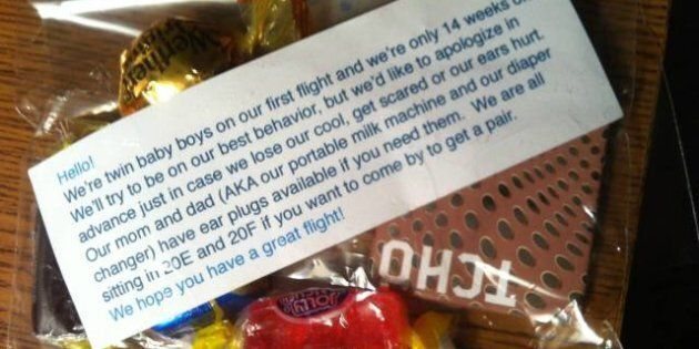 Crying Children On Planes: Couple Hands Out Goody Bags To Curb