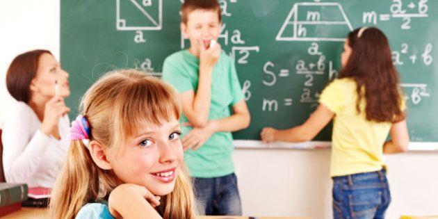 school child with teacher