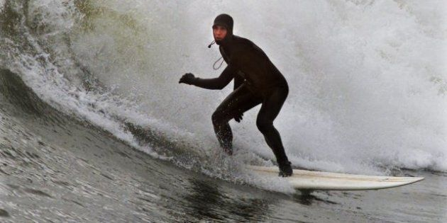 N.S. Surfers Revel In Hurricane