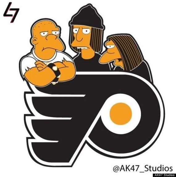 Simpsonized NHL Logos Are Cromulently Funny