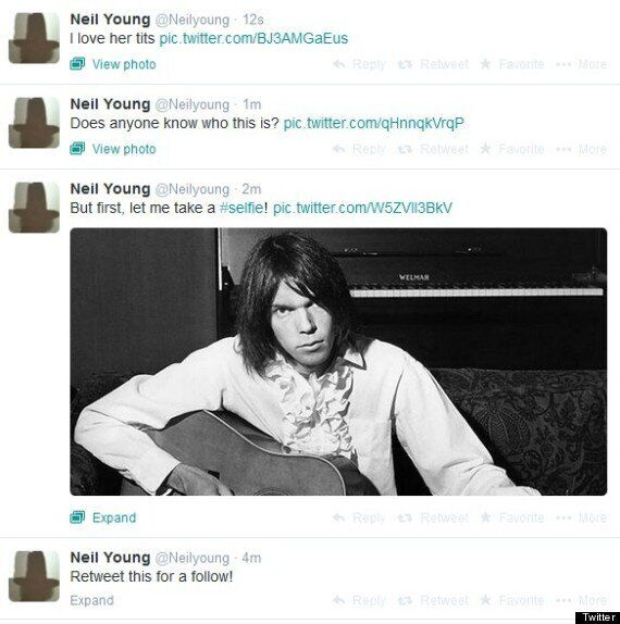 Neil Young's Twitter Account Hacked (NSFW, TWEETS,