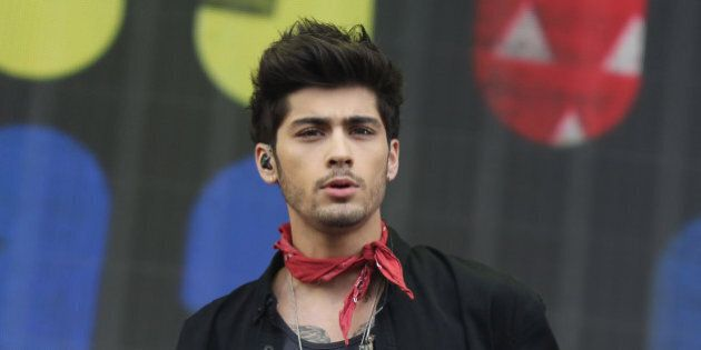 Zayn Malik of One Direction performs on stage during the BBC Radio 1 Big Weekend Festival in Glasgow,