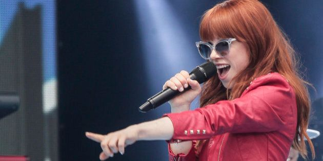 OTTAWA, ON - JULY 01: Carly Rae Jepsen performs during Canada Day celebrations on Parliament Hill on...
