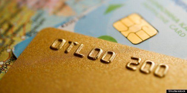 credit card closeup with...